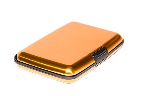 9860 Hard Case - Card-Guard 82-9860 Aluminum Credit Card Wallet - RFID Blocking Case, Gold