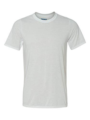 New Gildan Classic Fit Mens Large L Adult Performance Short Sleeve T-Shirt White