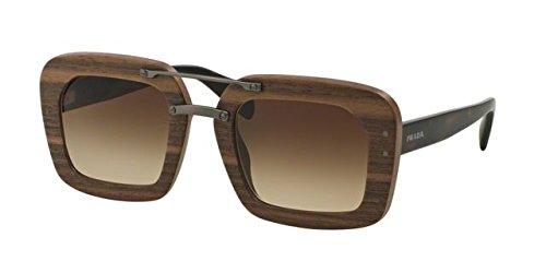 (Prada PR30RS Sunglasses IAM6S1-51 - Nut Canaletto Frame, Brown Gradient PR30RS-IAM6S1-51)