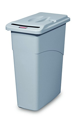 Rubbermaid Slim Jim Waste Confidential Combo, 87 L - Grey by Rubbermaid Commercial Products