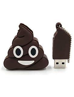 Unidad Flash USB Llavero Emoticono Caca Capacidad Real 32 GB ...