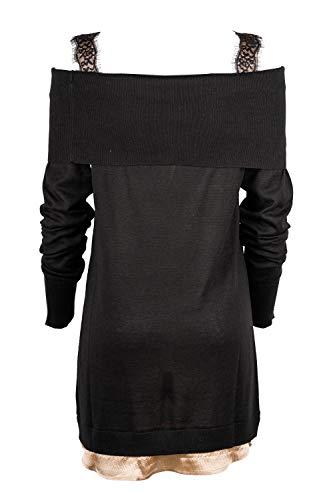 Vestito Donna Nero Cotone Kangra 69138400113 OCpdqq