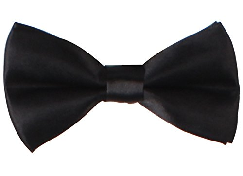 WDSKY Infant Baby Bow Ties for Boys Girls Toddler Tuxedo Bowties Black One Size