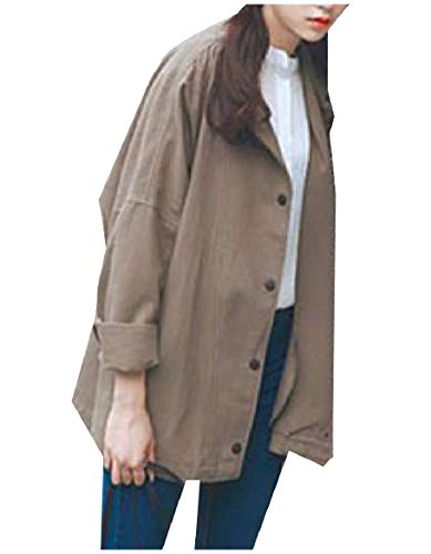 Pure Coat Mid Notch Long Color Collar 2 Women Vintage Howme Tops Retro 0WZwH