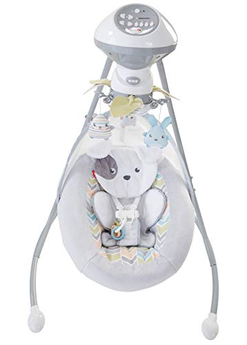 Fisher-Price Sweet Snugapuppy Dreams Cradle 'n Swing (Baby Boy Cradle)