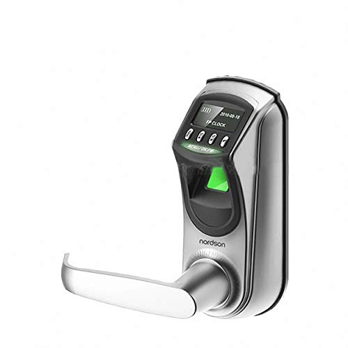 Intelligent high Speed Identification USB prot Fingerprint Door Lock with OLED Display (White)
