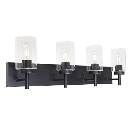 bathroom light fixtures black 4 bulb buyer's guide for 2020