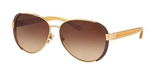 Tory Burch Women's 0TY6052 Gold/Brown Gradient One Size