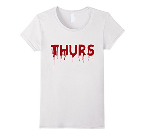 Shark Week Costume Group (Womens Thursday T-Shirt | Days of the Week Group Costume | Shark Large White)