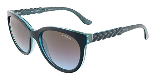 Vogue Sunglasses VO2915S 226048 Petroleum Green/Glitter Green Azure Grad Pink Grad Browm 53 19 - Luxottica Ny
