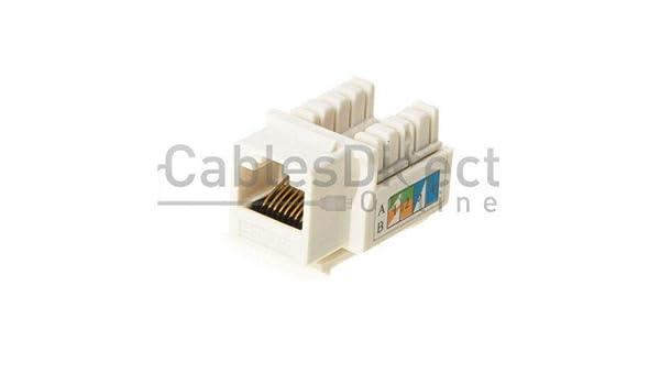 LOGICO 50 Pack lot Keystone Jack Cat6 White Network Ethernet 110 Punchdown 8P8C