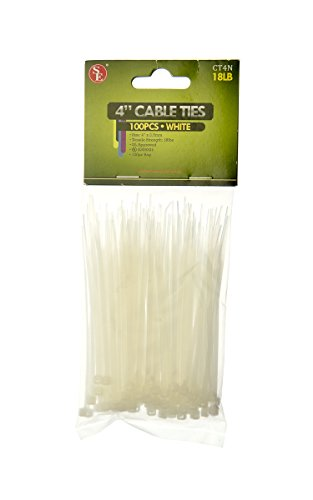 SE CT4N 4'' White Cable Ties with 18-lb. Tensile Strength (100 Count) by SE (Image #3)