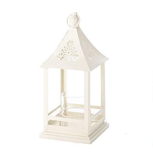 - Koehlerhomedecor Holiday Home Decor Traditional Hanging Belfort White Metal Candle Lantern