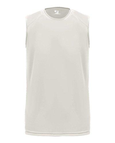 White Youth Medium Tank Top Sleeveless Wicking Shirt