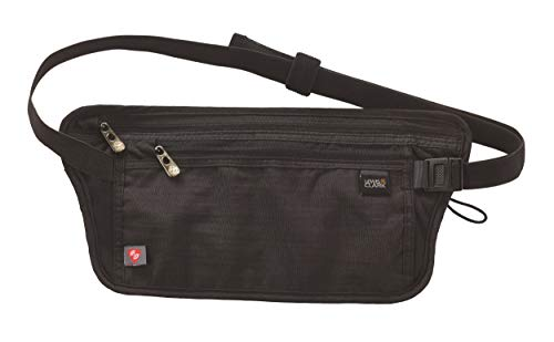 Lewis N. Clark RFID-Blocking Hidden Money Belt, Black