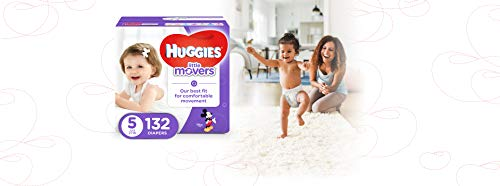 Large Product Image of HUGGIES LITTLE MOVERS Active Baby Diapers, Size 5 (fits 27+ lb.), 132 Ct, ECONOMY PLUS (Packaging May Vary)