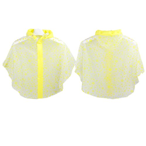 Children raincoat poncho cape-style candy-colored dots Cl...