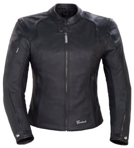 Cortech LNX WOMENS LEATHER MOTORCYCLE JACKET BLACK ()