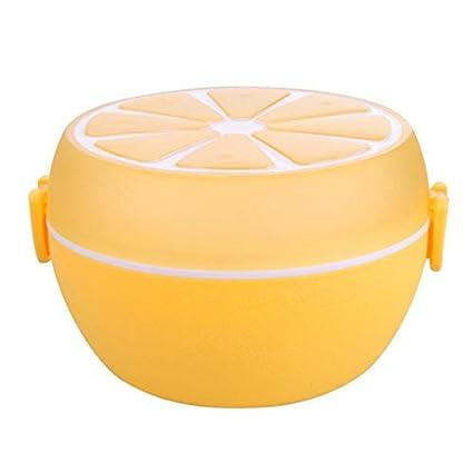 Amazon.com: Juego de vajilla – 2 capas de patrón de limón ...