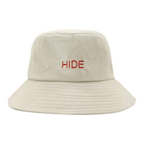 - TANGSen Women's Men Hat Comfortable Letter Basin Hat Fashion Unisex Fisherman Hat Casual Visor Outdoor Collapsible Cap Beige