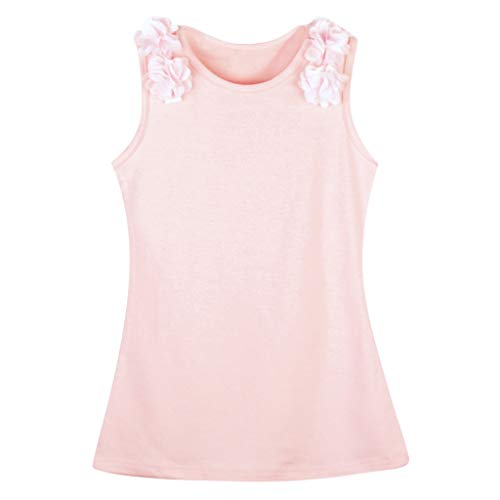Toddler Girls Flower Sleeveless Casual Dresses Solid Color Jersey Dresses Sundress Summer Girl Clothes (Age: 18-24 Months, - Cotton Ruffled Jersey