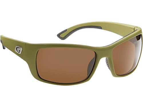 Guideline Eyegear Keel Sunglasses, Matte Opaque Green Frame, Freestone Brown Lens, - Guidelines Sunglasses