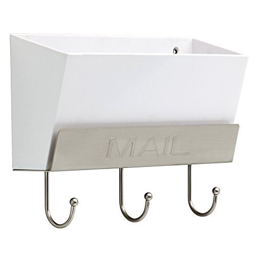 LIBERTY MAILHLDWSNR Classic Mail Holder with 3 Hooks 10quot