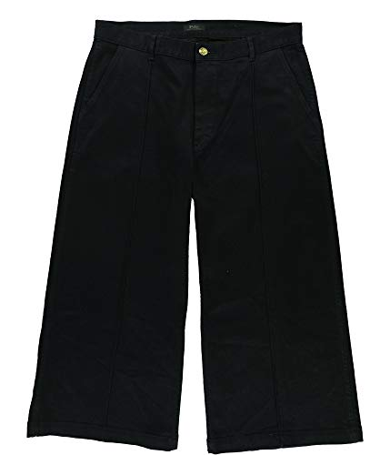 Ralph Lauren Womens Cropped Wide Leg Jeans, Blue, 32