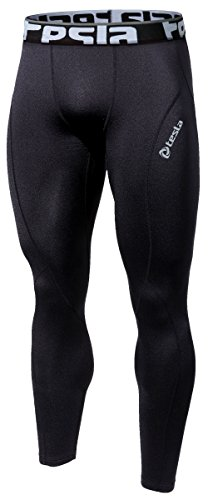 TM-P16-BLKZ_X-Large Tesla Men's Cool Dry Compression Baselayer Pants Leggings Tights P16