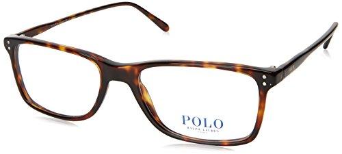 Polo Men's PH2155 Eyeglasses Shiny Dark Havana 54mm (Polo Ralph Lauren Brown Frame)