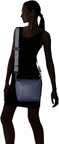 De Mandarina Shoppers Y Duck Bolsos Tracolla Mellow Leather eclipse Hombro Azul Mujer qRa0TR