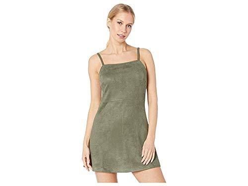 Jack by BB Dakota Womens fair & Square Faux Suede Scuba Dress, beetle green small