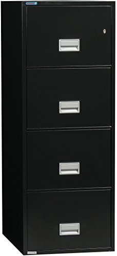 Phoenix Vertical 25 inch 4-Drawer Legal Fireproof File Cabinet - (Insulated Fireproof Filing Cabinet)