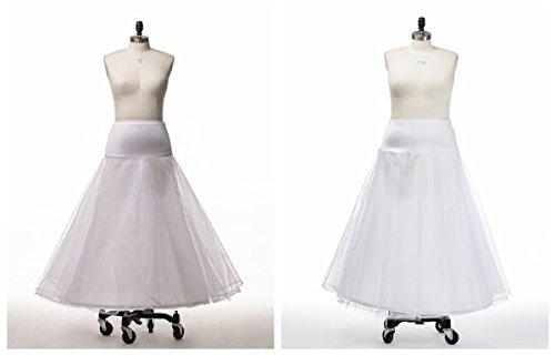 Topwedding nylon boda enaguas Una linea tiene tres capas blanco