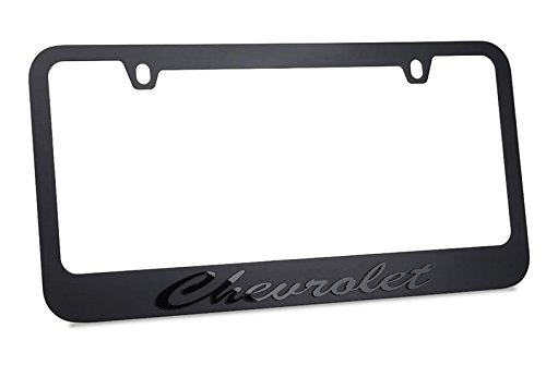 Genuine Chevrolet License Plate - Chevrolet Script Stealth Blackout License Plate Frame