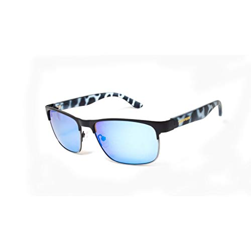 (Peppers Eastbound In Blue Tortoise Temples/Blue Mirror Polarized Sunglasses)