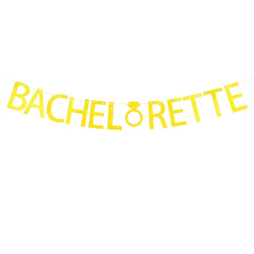 Bachelorette Banner Hanging Decor for Wedding,Bachelorette,Fiesta Party Décor Gold Banner Pertlife by Pertlife
