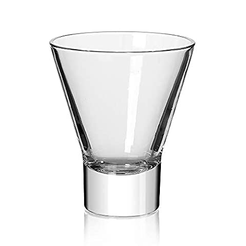 Martini Glasses,Cocktail Glasses Set of 4-Stemless Martini Cocktail Glass 8 Ounce. Cocktail Bar Glass Perfect Quality…