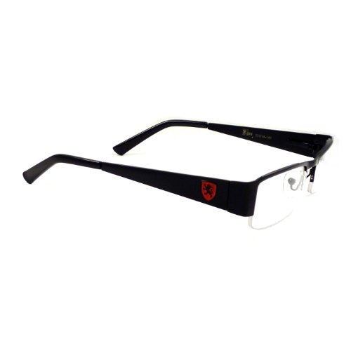 KHAN Nerd Metal Polite Look Fashion Frame Rx Clear Lens Eye Glasses - Red Metal Frames Glasses