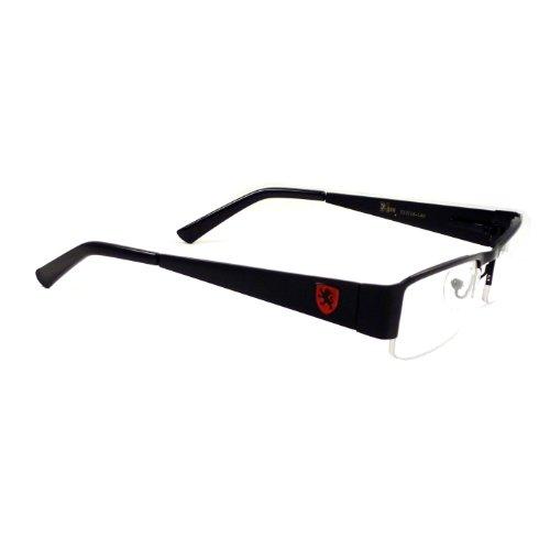 KHAN Nerd Metal Polite Look Fashion Frame Rx Clear Lens Eye Glasses - Rx Clear Eyes