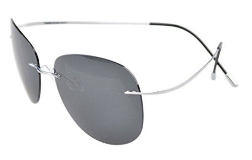 Style Eyekepper Argente Titanium lunettes Cadre Aviateur gris de Pilote cerclees soleil polarisees tHHgwqF