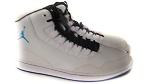 Nike Jordan Executive Mens Basketball Shoe White/Blue Lagoon Concord Black (9.5) (Black And Blue Jordans compare prices)