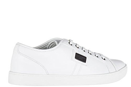Dolce&Gabbana chaussures baskets sneakers homme en cuir blanc