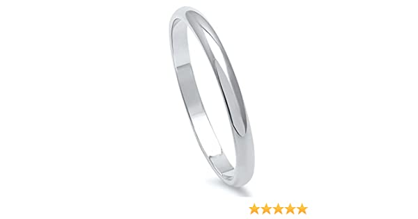 Noureda 6MM Stainless Steel High Polished Light Comfort Fit Traditional Dome Wedding Band Ring