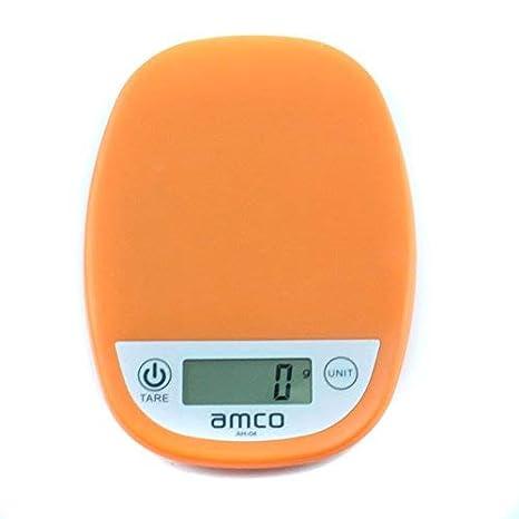 amco Básculas de cocina digitales, 5kg / 11lb, báscula electrónica de cocina, balanzas con pantalla LCD, precisión de 1 gramo, diseño delgado, para el hogar ...