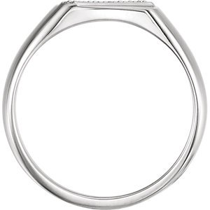 Men's Diamond Signet Ring, Rhodium-Plated 14k White Gold (.1 Ctw, G-H Color, I1 Clarity) Size 11 by The Men's Jewelry Store (Image #3)