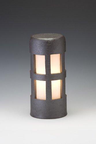 信楽焼ガーデンライト森のあかり(ブラック)直径12.5cm×高さ29cm(屋外用防雨型和風ライト) 日本製 B00476P45E 19440