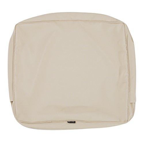 Classic Accessories Montlake Patio Back Cushion Slip Cover Antique Beige 21x20x4