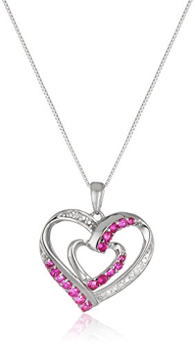 Sterling-Silver-Created-Ruby-and-Diamond-Double-Heart-Pendant-Necklace-18