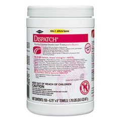 Dispatch Hospital Cleaner Disinfectant Towels with Bleach ( DISINFECTANT, BLEACH, DISPATCH, CANISTER ) 1 Each / Each